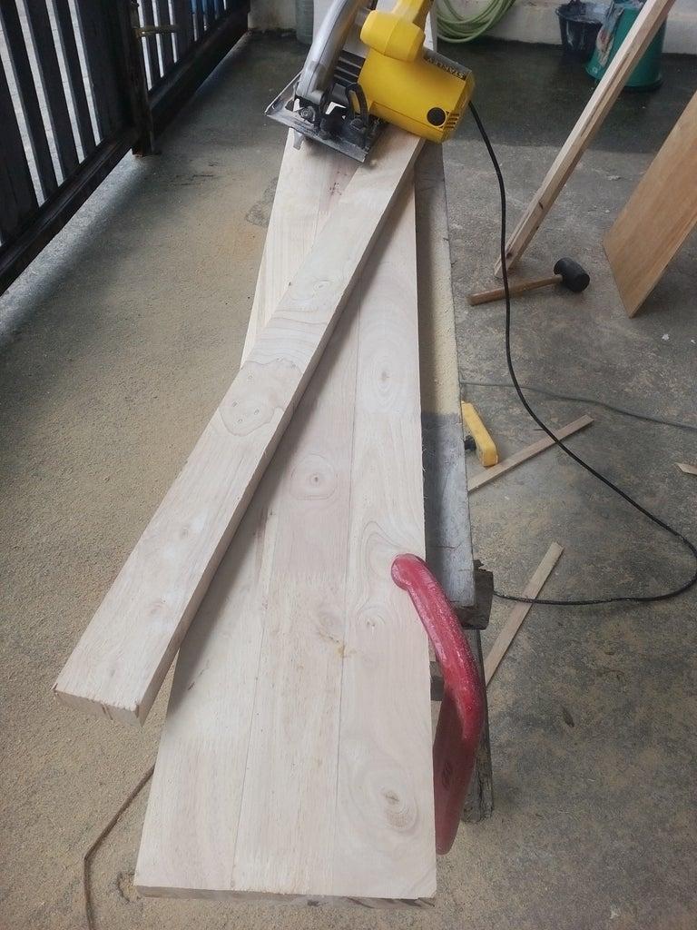 Preparing the Wood for the Door Frames