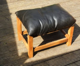 Louche Foot-stool. Lounging Comfy-ness From Found/recycled Stuff