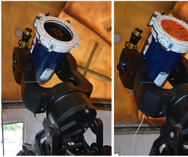 Smart Cover of a Night-time Telescope for Day-time Use