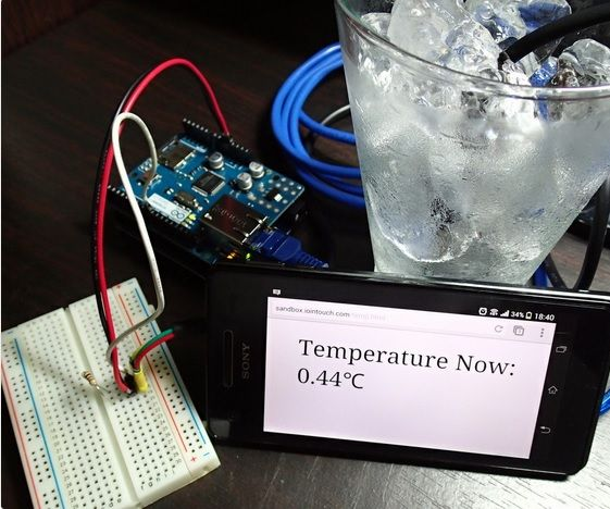 Online Temperature Monitoring using Arduino + Ethernet Shield