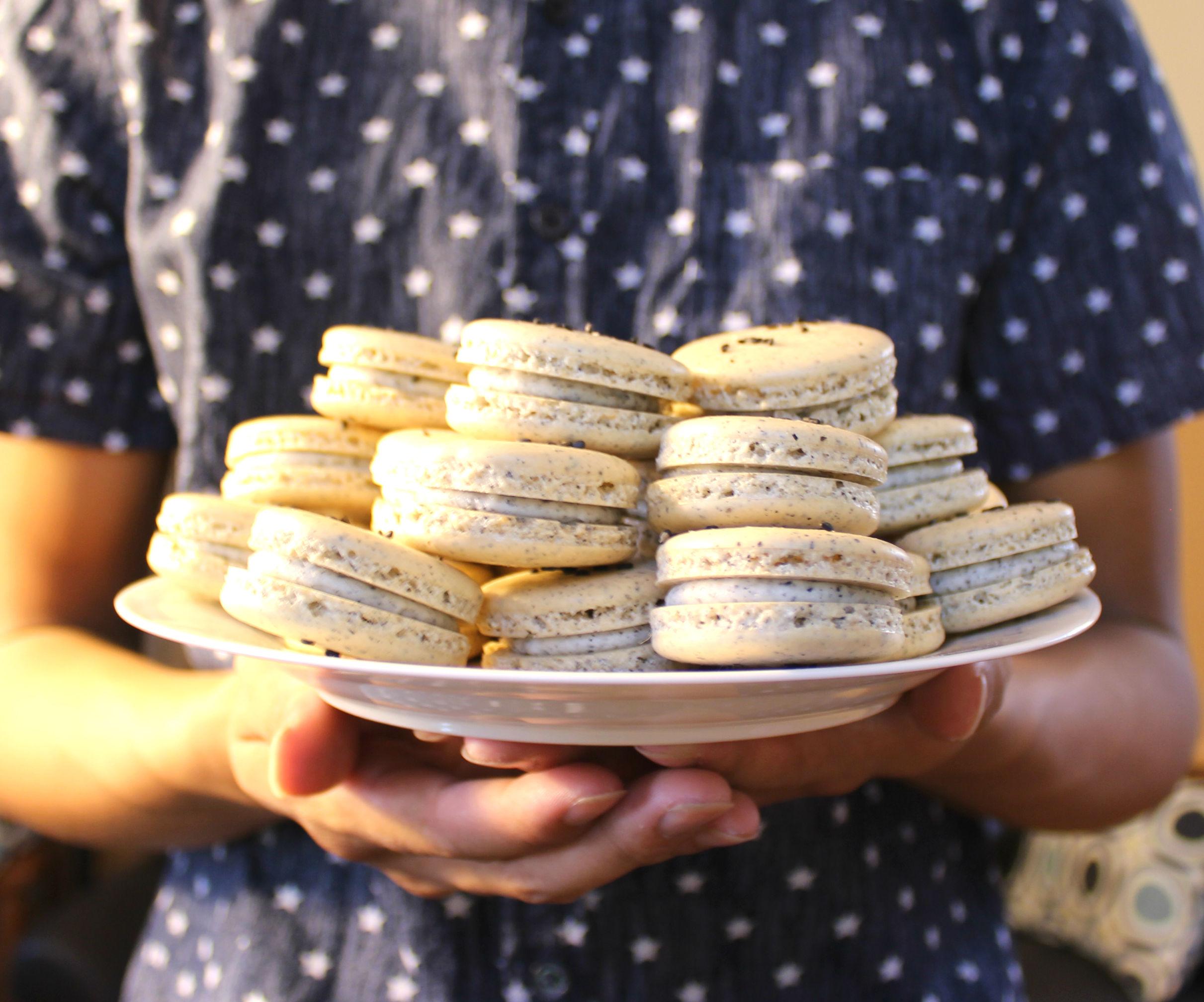 Black Sesame Macarons | Josh Pan