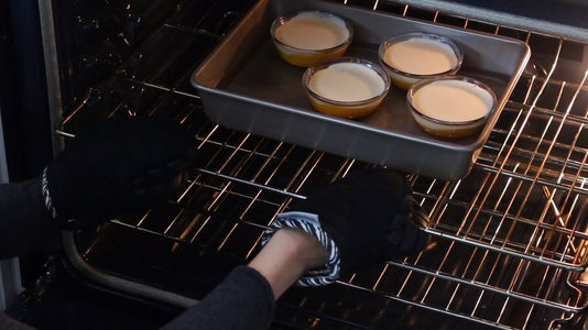 Filling Ramekins and Baking