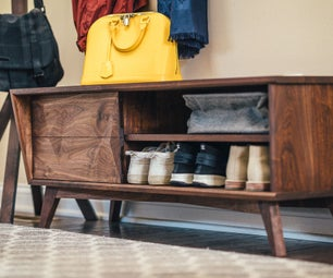 How to Build a Modern Entryway Shoe Bench