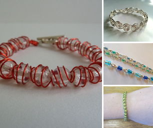 Beaded and Wire Bracelets