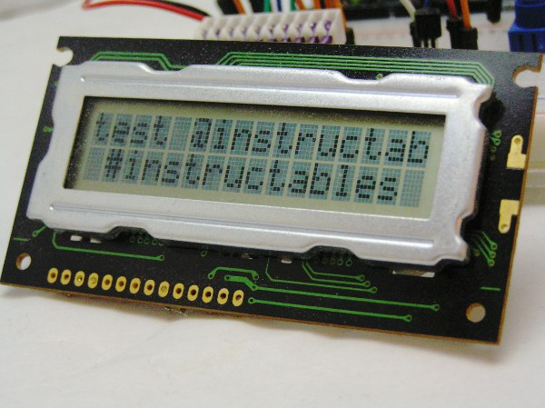 Arduino LCD Twitter display