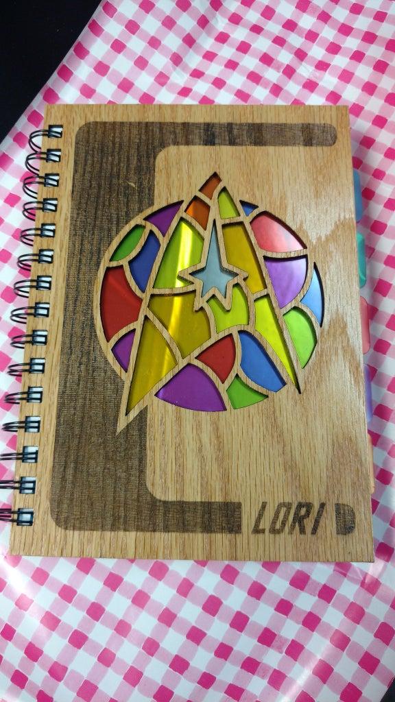 Star Trek Stained Glass Notebook