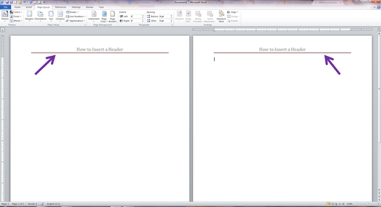 The Header Will Appear on Each Page of Your Document, As Can Be Seen.