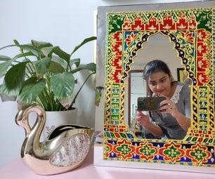 DIY Meenakari Mirror