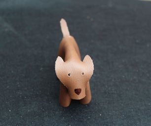 Easy to Make Leather Dog Made From Just Scrap Material!