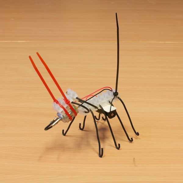 Scary Bots and Super Creeps - Vibrobots With Connectors, Wire and Cable Ties