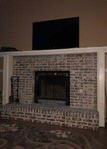 Broken Tiled Fireplace to Fabulous German Schmear