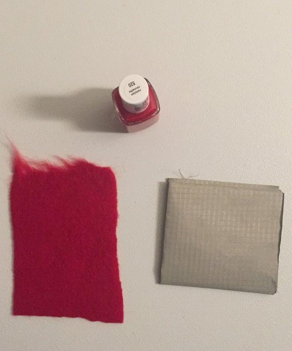 Using Nail Polish to Insulate Conductive Fabric