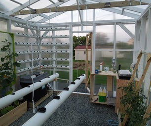 The Hydroponic, Automated, Networking, Climate Controlled Greenhouse Project: Construction