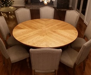Traditional Round Farmhouse Table