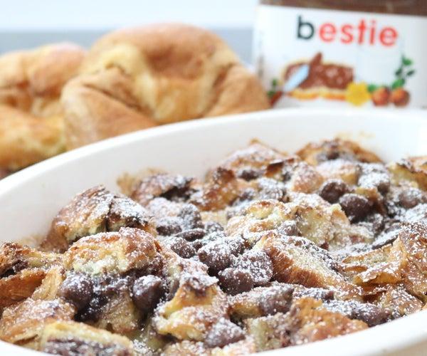 Nutella Croissant Bread Pudding