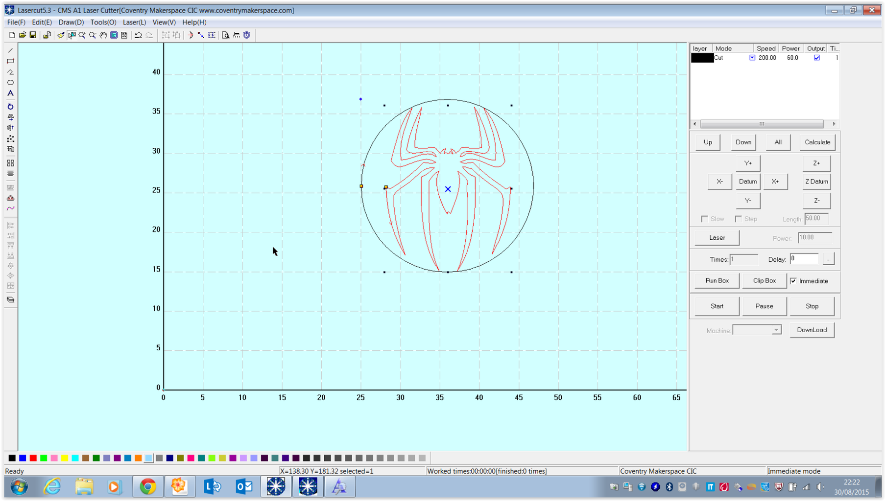 Trace Your Spider Logo and Convert to a Lasercut File