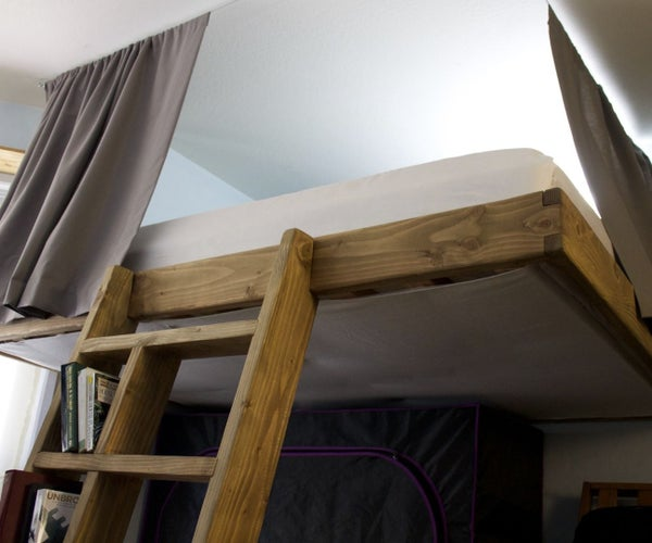 Partially Freestanding Loft Bed Under $50