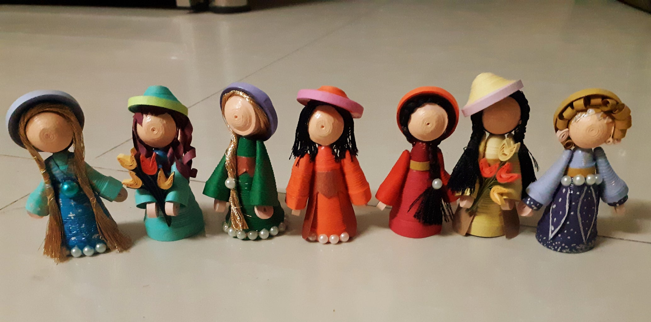 Making of Hat and Completion of Dolls