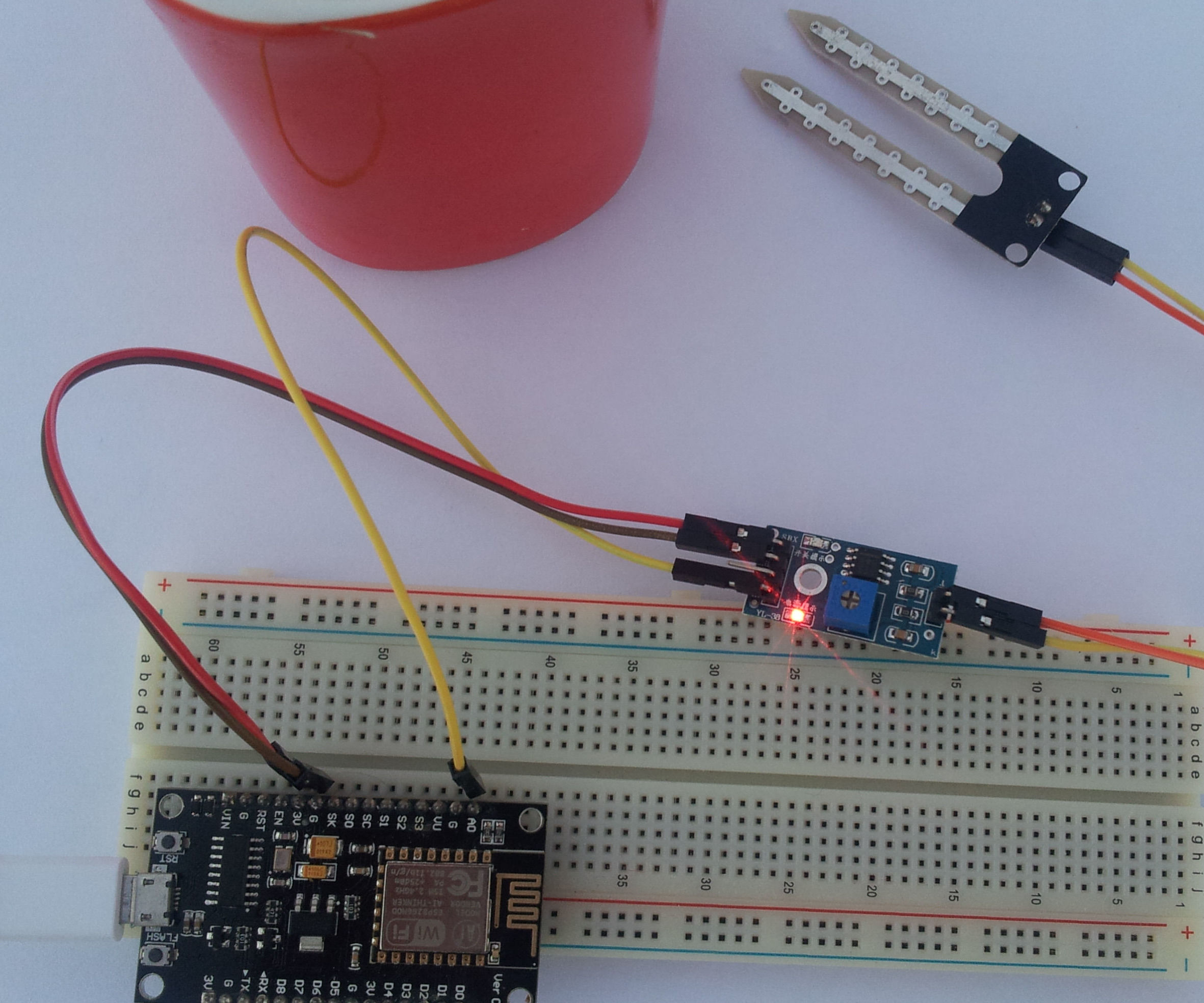 How to Connect Soil Moisture Sensor and ESP8266 to the AskSensors IoT Cloud