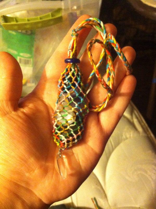 Macrame Interchangeable Stone Necklace