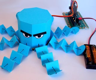 Robotic Paper Octopus (with Micro:bit)