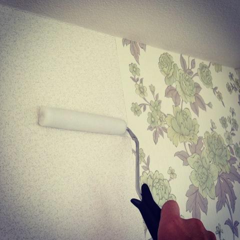 I put wall paper!!