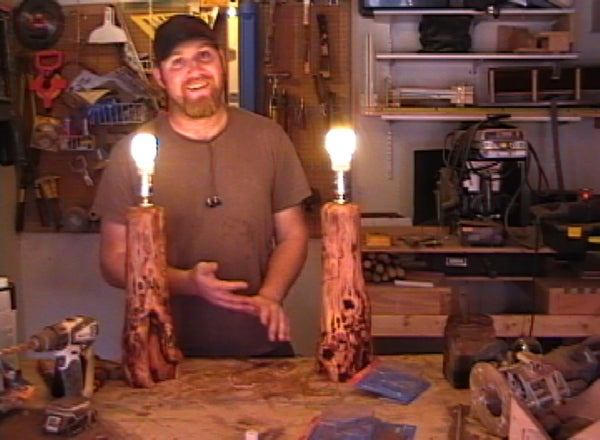 How to Make Log Lamps
