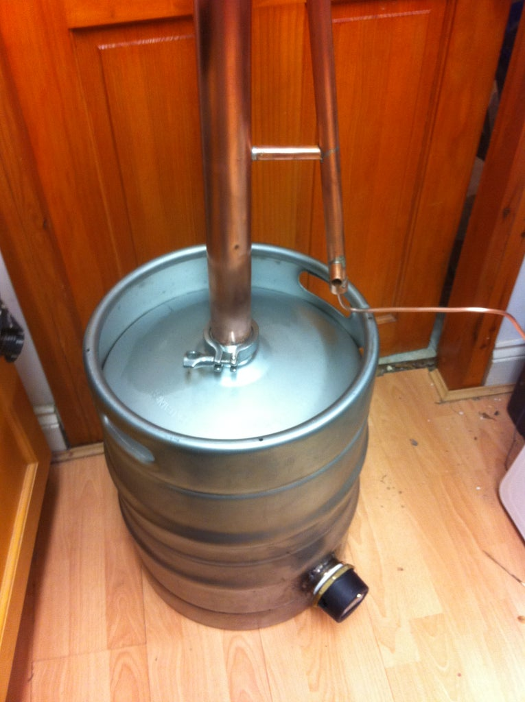 Attaching the Column to the Keg
