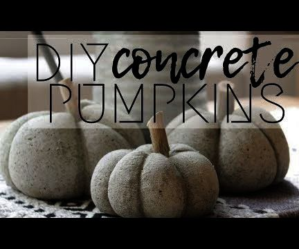 How to Make Concrete Pumpkins for Only $1