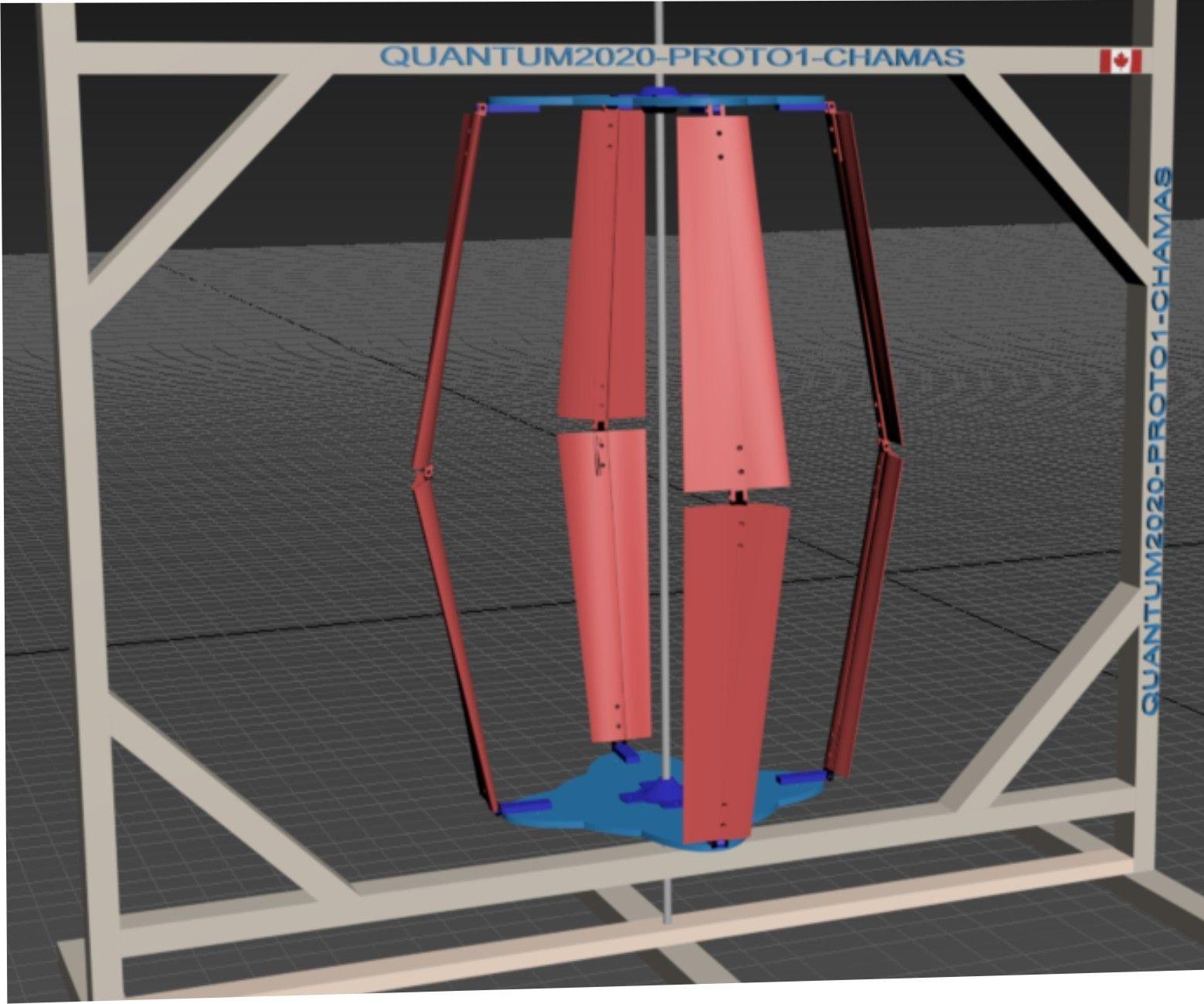 QUANTUM2020 VAWT, Vertical Windo Turbine