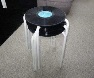 Vinyl Record Ikea Stool
