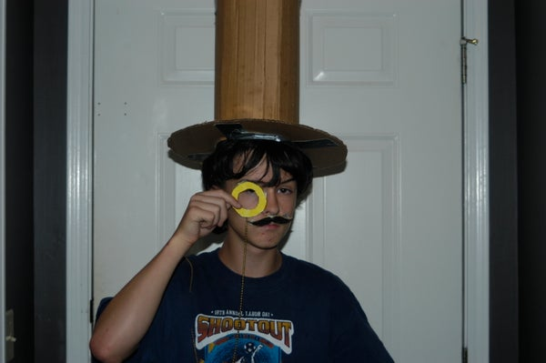 Cardboard Top Hat, Monocle, and Mustache
