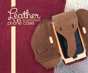 Leather Elephant Phone Case