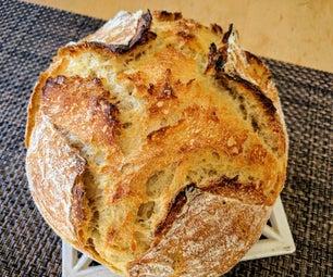 超级轻松无揉酵母面包