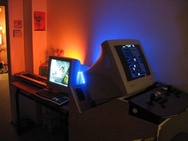 Arcade Cabinet With Ambient Light Effects