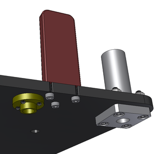 Install Limit Switch Height Bracket Into Aluminum Plate