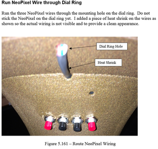 Construction - Run NeoPixel Wire Through Dial Ring