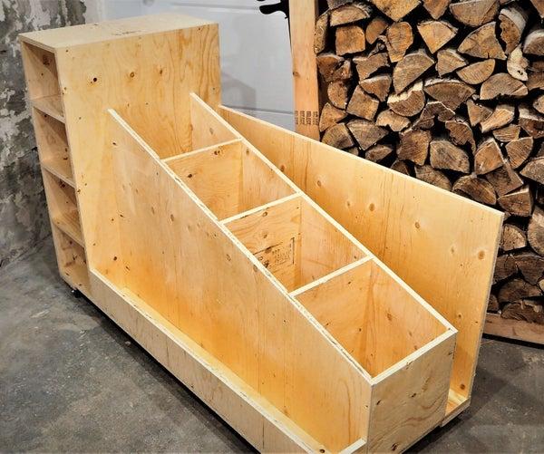 The Ultimate Lumber Storage Cart