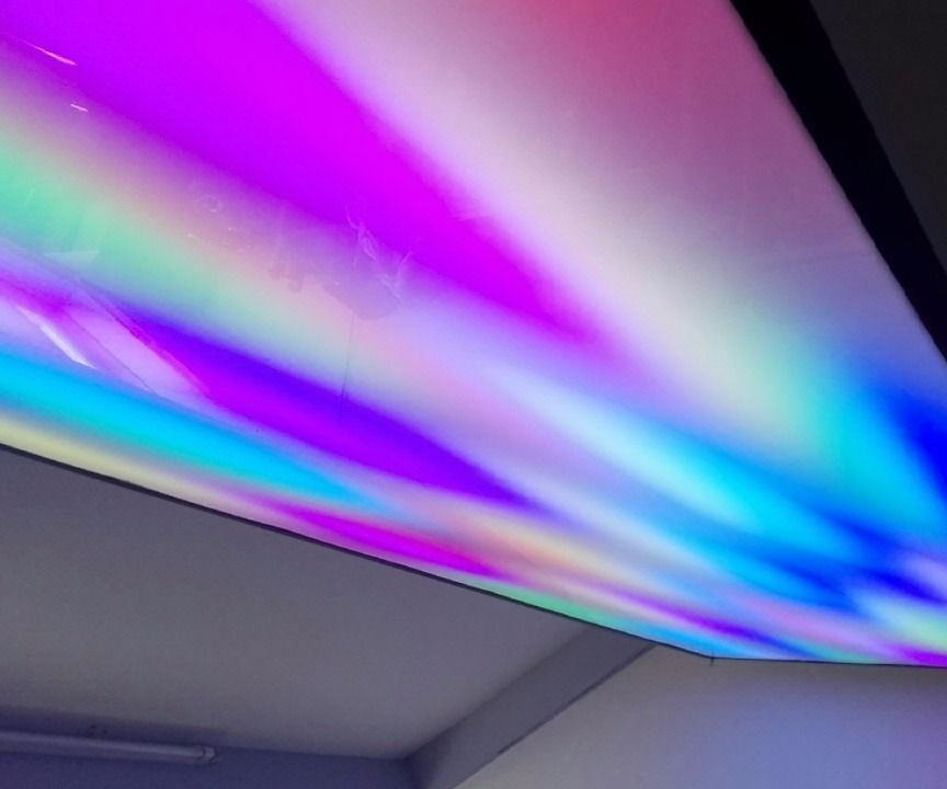 Huge addressable RGB LED (ceiling) panel