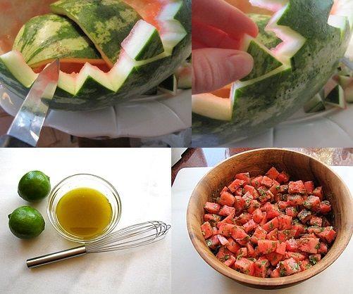 Watermelon Salad with Chervil