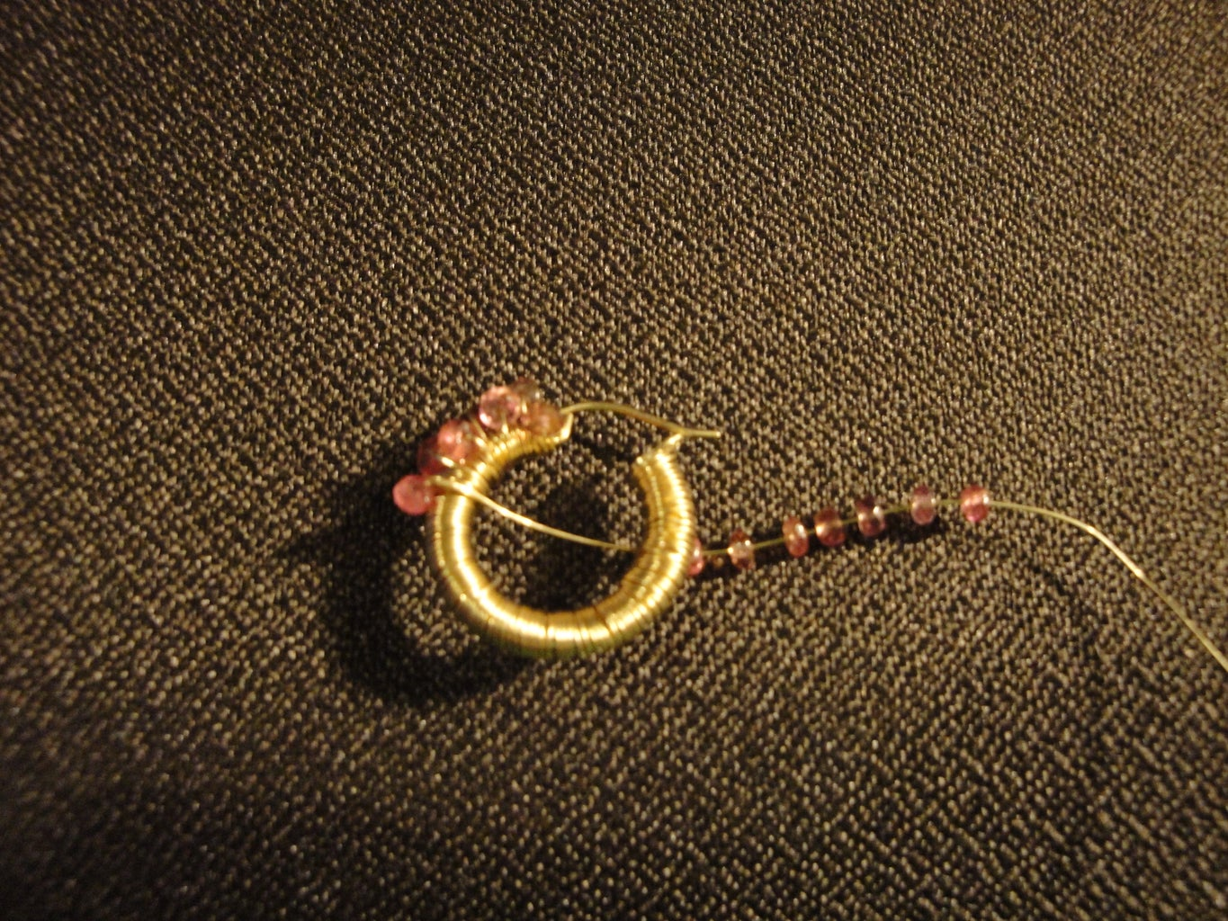 Wrapping the Tourmaline Beads