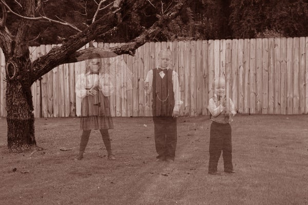 Ghosts in the Graveyard!  Halloween Photo Shoot!