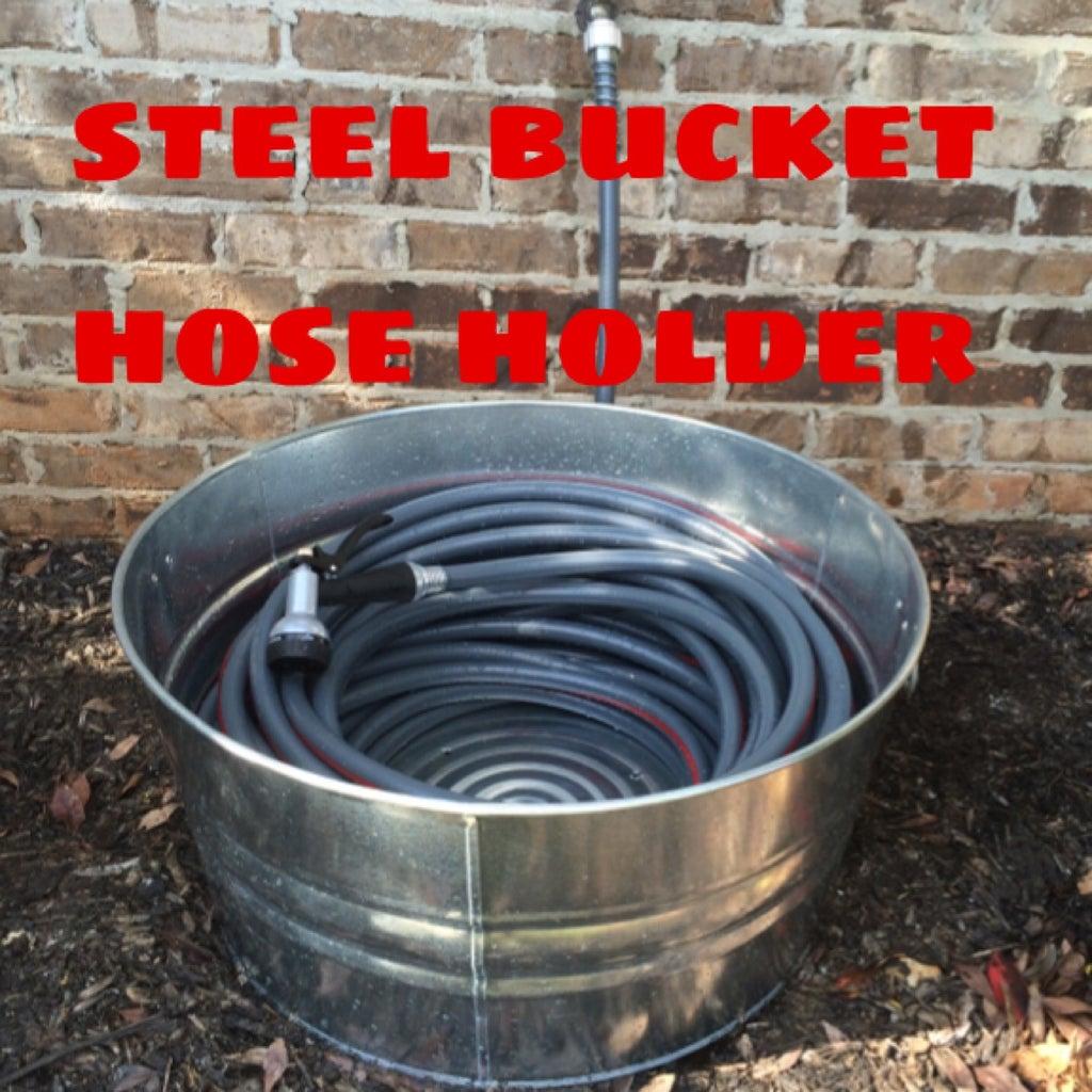 Steel Bucket Hose Holder