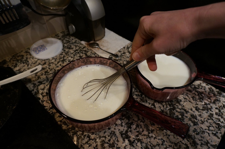 Dosing the Milk With Yogurt Bacteria
