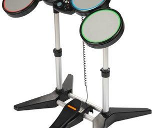 Arduino MIDI Rockband Drumset