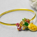 Beebeecraft Tutorials on How to Make Pineapple Bracelet With Glass Beads