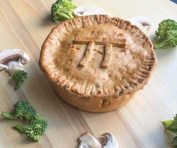 Spicy Potato Pie Crust With Mushroom Broccoli Filling
