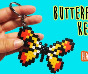 Butterfly Keychain With Hama Beads