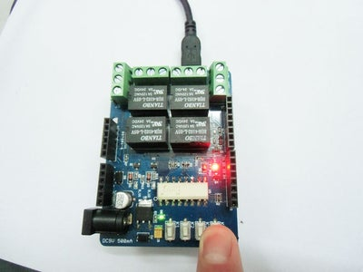 Have a Try:Control the Relay Shield by Manually.
