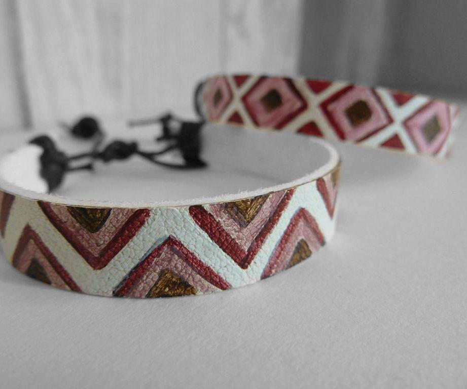Painted 'leather' bracelets